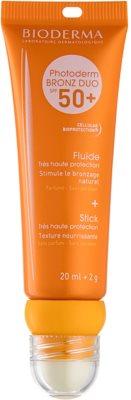 Bioderma Photoderm Bronz líquido protector para rostro y labios SPF 50+