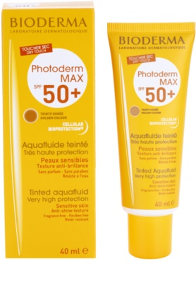 Bioderma Photoderm Max тониращ слънцезащитен флуид SPF 50+ 1