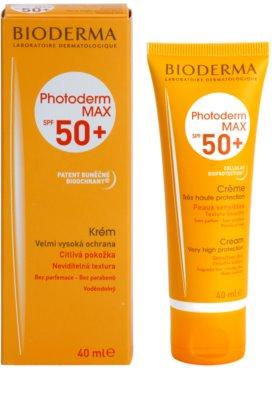 Bioderma Photoderm Max crema solar para pieles intolerantes  SPF 50+ 1