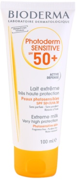Bioderma Photoderm Sensitive leite protetor para rosto e corpo SPF 50+