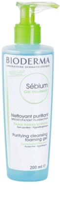 Bioderma Sébium Gel Moussant очищуючий гель для комбінованої та жирної шкіри