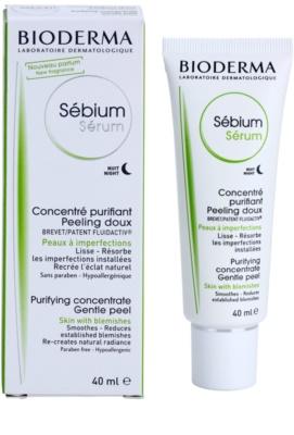 Bioderma Sébium Sérum nočni čistilni serum s piling učinkom 1