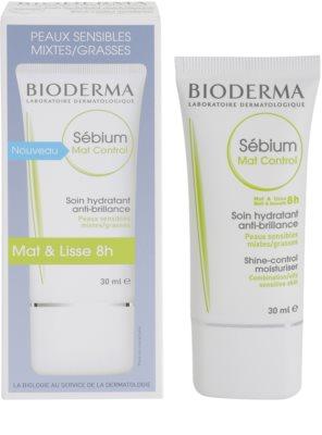 Bioderma Sébium Mat Control crema hidratante ligera  anti-brillos y anti-poros dilatados 1
