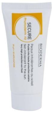 Bioderma Secure Photoderm AB fluid de protectie pentru piele fotosensibil in timpul tratamentului cu antibiotice protectie ridicata impotriva razelor UV