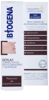 Biogena Pharma серум за редуциране на петна и белези за кожа, която е суха и раздразнена от медикаментозно лечение на акне 1
