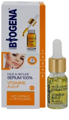 Biogena Face&Neckline Serum 30+ ránctalanító és regeneráló szérum vitaminokkal A + E + F 1