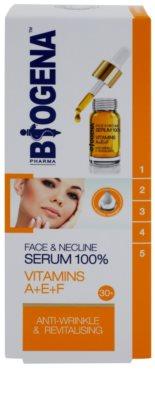 Biogena Face&Neckline Serum 30+ ránctalanító és regeneráló szérum vitaminokkal A + E + F 2