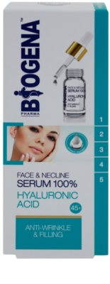 Biogena Face&Neckline Serum 45+ serum proti gubam s hialuronsko kislino 1