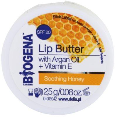 Biogena Lip Butter Soothing Honey cuidado lábial de manteiga SPF 20