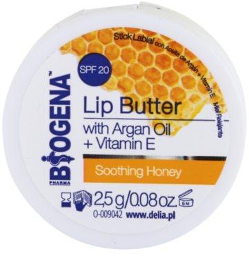 Biogena Lip Butter Soothing Honey Unt de ingrijire a buzelor SPF 20