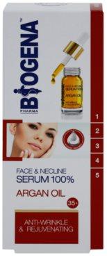 Biogena Face&Neckline Serum 35+ омолоджуюча сироватка проти зморшок з аргановою олійкою 2