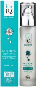 BioIQ Face Care nawilżający krem na noc o działaniu przeciwzmarszczkowym 1
