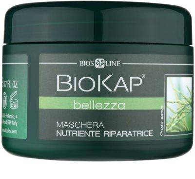 Biokap Beauty máscara rejuvenescedora e renovedora para cabelo seco a danificado