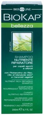 Biokap Beauty поживний відновлюючий шампунь для сухого або пошкодженого волосся 2