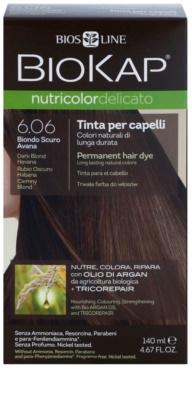 Biokap Nutricolor Delicato cor de cabelo permanente com óleo de argão sem perfume