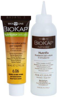 Biokap Nutricolor Delicato tinte permanente para cabello con aceite de argán sin perfume 2