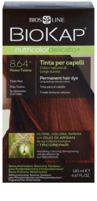Biokap Nutricolor Delicato+ permanentní barva na vlasy s arganovým olejem bez parfemace