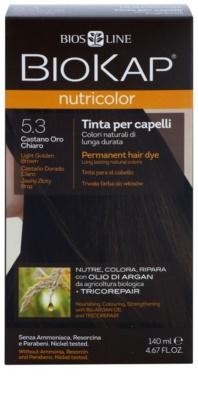 Biokap Nutricolor cor para cabelo permanente com óleo de argan