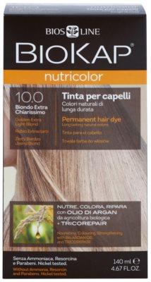Biokap Nutricolor tinte permanente para cabello con aceite de argán