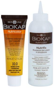 Biokap Nutricolor tinte permanente para cabello con aceite de argán 2