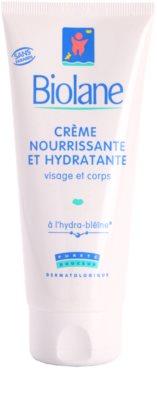 Biolane Baby Care nährende und feuchtigkeitsspendende Creme für Körper und Gesicht