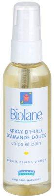 Biolane Baby Care olej v spreji zo sladkých mandlí