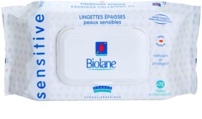 Biolane Baby Hygiene tisztító törlőkendő az érzékeny bőrre