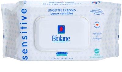 Biolane Baby Hygiene очищуючі серветки для чутливої шкіри