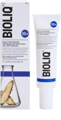 Bioliq 55+ creme de lifting intensivo para a pele delicada do cortorno de olhos, lábios , pescoço e decote 1