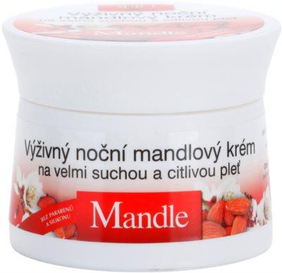 Bione Cosmetics Almonds výživný noční krém pro velmi suchou a citlivou pleť