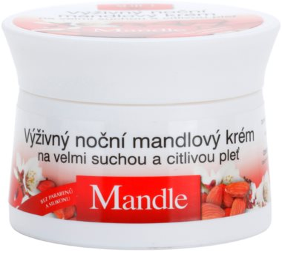 Bione Cosmetics Almonds поживний нічний крем для дуже сухої та чутливої шкіри