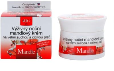 Bione Cosmetics Almonds crema de noche nutritiva  para pieles muy secas y sensibles 1