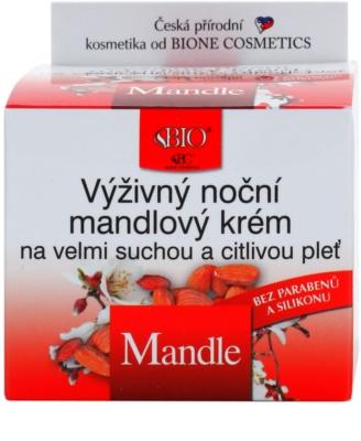 Bione Cosmetics Almonds crema de noche nutritiva  para pieles muy secas y sensibles 2