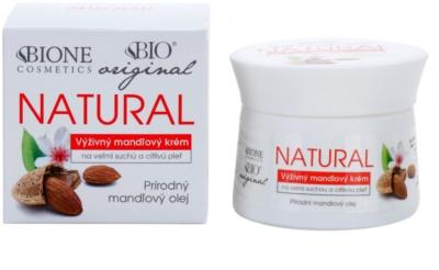 Bione Cosmetics Almonds crema extra nutritiva pentru piele foarte uscata si sensibila 1