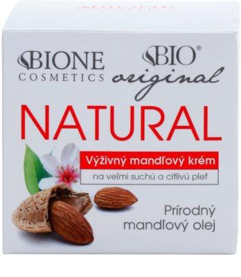 Bione Cosmetics Almonds crema extra nutritiva pentru piele foarte uscata si sensibila 2