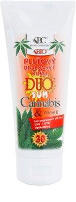Bione Cosmetics DUO SUN Cannabis крем для обличчя для засмаги SPF 30