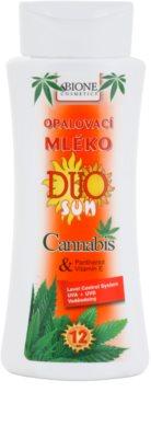 Bione Cosmetics DUO SUN Cannabis loțiune pentru plaja  SPF 12