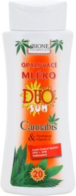 Bione Cosmetics DUO SUN Cannabis Bräunungsmilch SPF 20