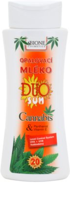 Bione Cosmetics DUO SUN Cannabis mleczko do opalania SPF 20