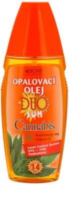 Bione Cosmetics DUO SUN Cannabis napozó olaj spray -ben SPF 14