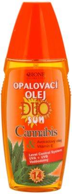 Bione Cosmetics DUO SUN Cannabis ulei spray pentru bronzare SPF 14