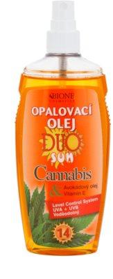 Bione Cosmetics DUO SUN Cannabis ulei spray pentru bronzare SPF 14 1