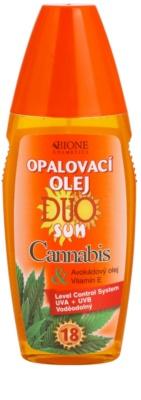 Bione Cosmetics DUO SUN Cannabis олійка-спрей для засмаги SPF 18
