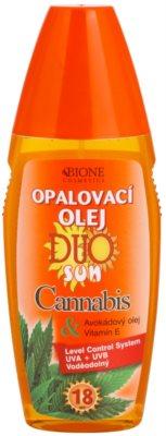 Bione Cosmetics DUO SUN Cannabis olej na opalování ve spreji SPF 18