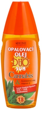 Bione Cosmetics DUO SUN Cannabis ulei spray pentru bronzare SPF 18