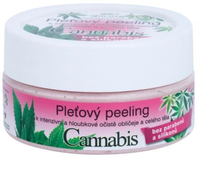 Bione Cosmetics Cannabis pleťový peeling na tvár a telo