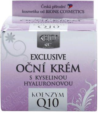 Bione Cosmetics Exclusive Q10 oční krém s kyselinou hyaluronovou 2