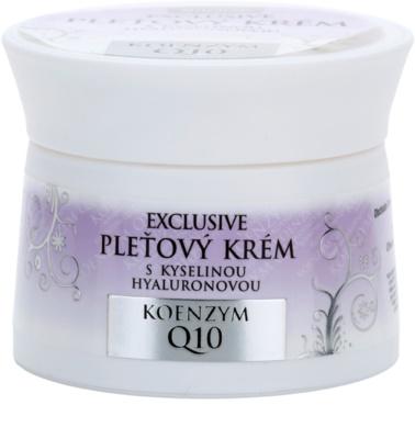 Bione Cosmetics Exclusive Q10 creme facial com ácido hialurônico com ácido hialurónico