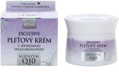 Bione Cosmetics Exclusive Q10 creme facial com ácido hialurônico com ácido hialurónico 1