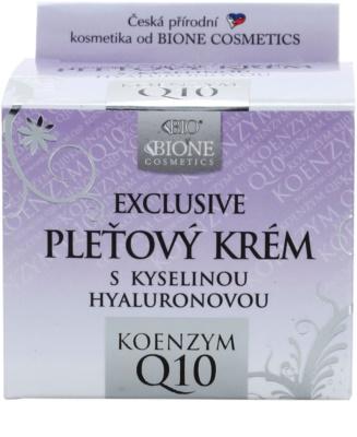 Bione Cosmetics Exclusive Q10 creme facial com ácido hialurônico com ácido hialurónico 2